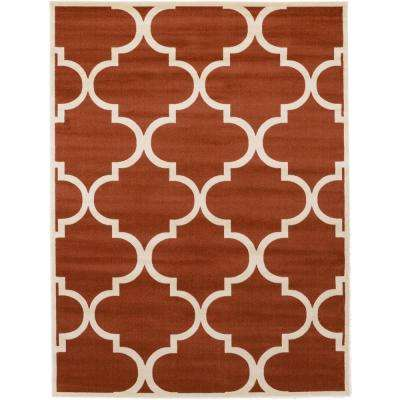 Trellis Rust Red 9 ft. x 12 ft. Area Rug