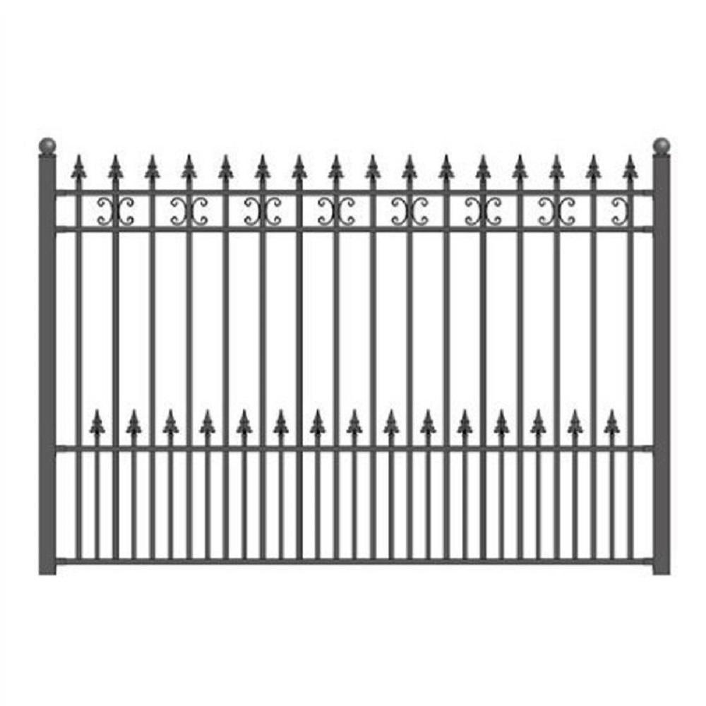 St. Petersburg 5 ft. x 5.5 ft. DIY Iron Wrought Steel Fence Panel