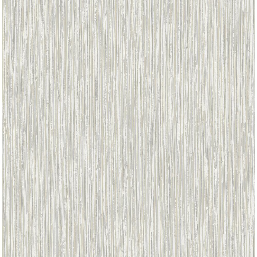 Kofi Grey Faux Grasscloth Wallpaper Sample
