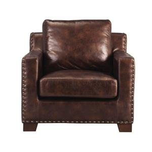 Garrison Brown Bonded Leather Arm Chair