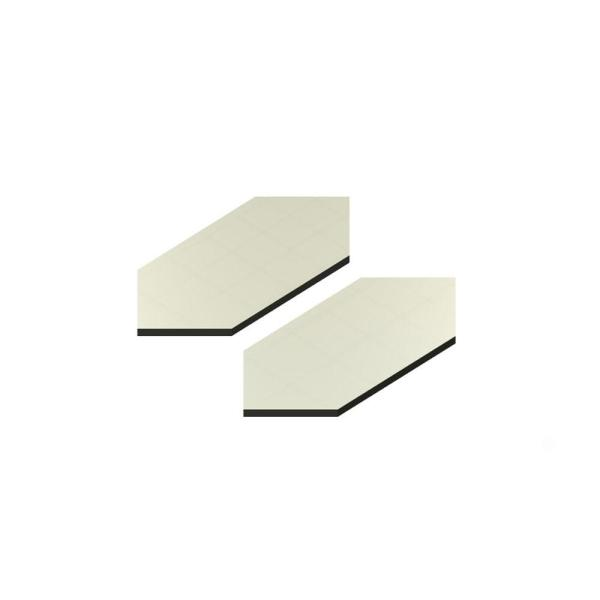 4 in. x 2 in. Acrylic Mirror Seam Cover Plates (2-Pack)