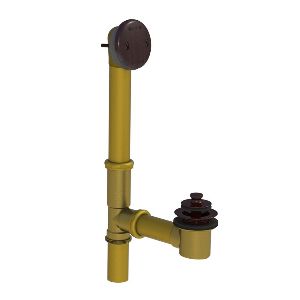 501 Series 16 in. Tubular Brass Bath Waste with Lift and