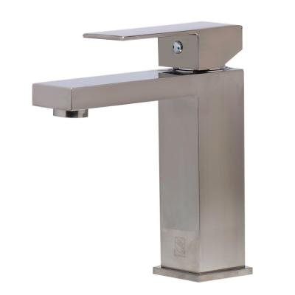 AB1229-BN Single Hole Single-Handle Bathroom Faucet in Brushed Nickel