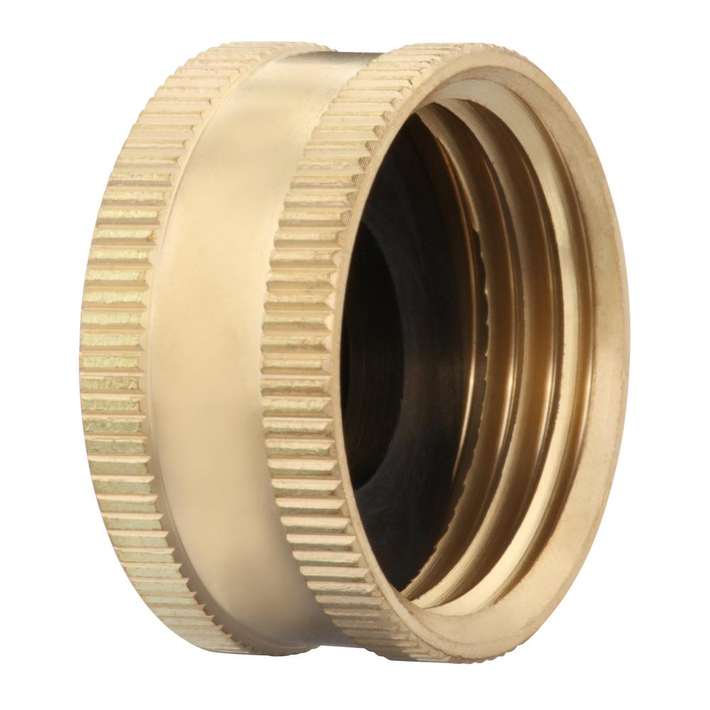 Everbilt 3/4 in. FHT Lead-Free Brass Garden Hose Cap Fitting