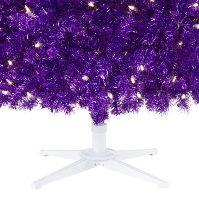 7.5 ft. Rainbow Color Pine LED Pre-Lit Artificial Christmas Tree with 500 SureBright Warm White Lights