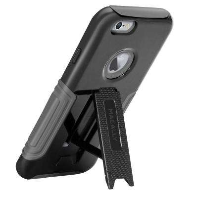 Hardshell Case with Stand Designed for iPhone 6 Plus - Black/Gray