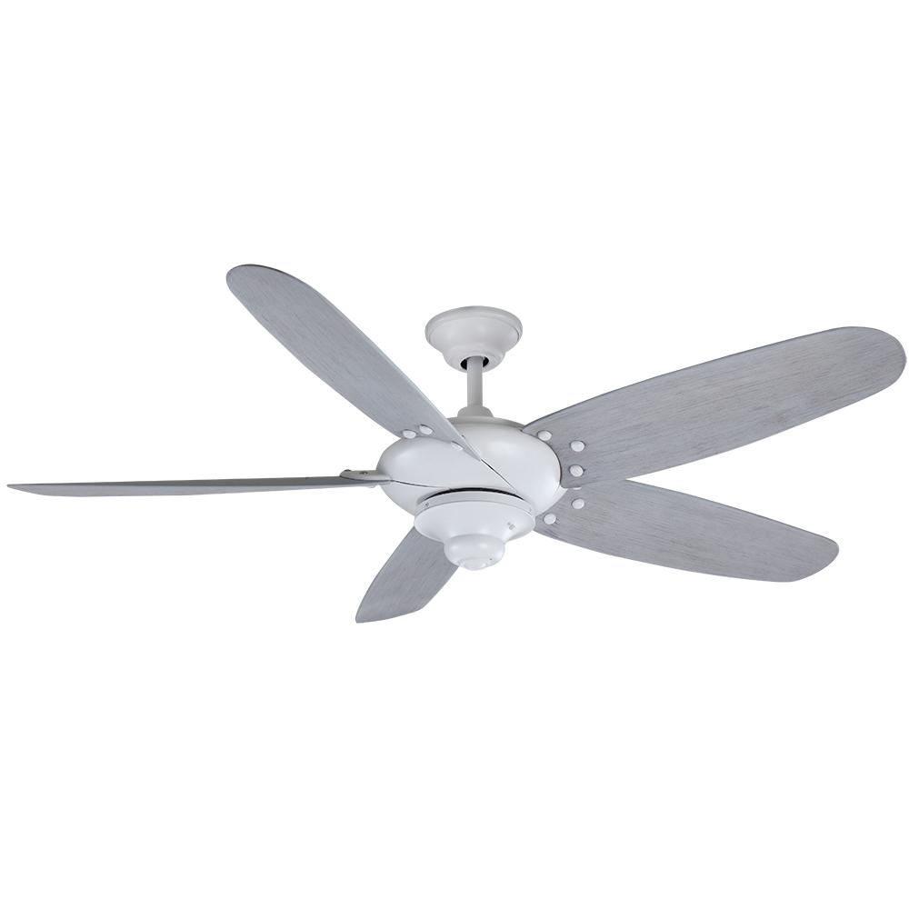 Altura 60 in. Outdoor Matte White Ceiling Fan with Wall Control