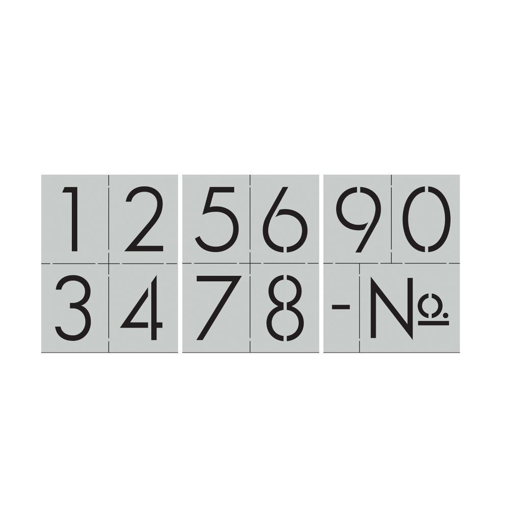 Modern Numbers Stencil Set