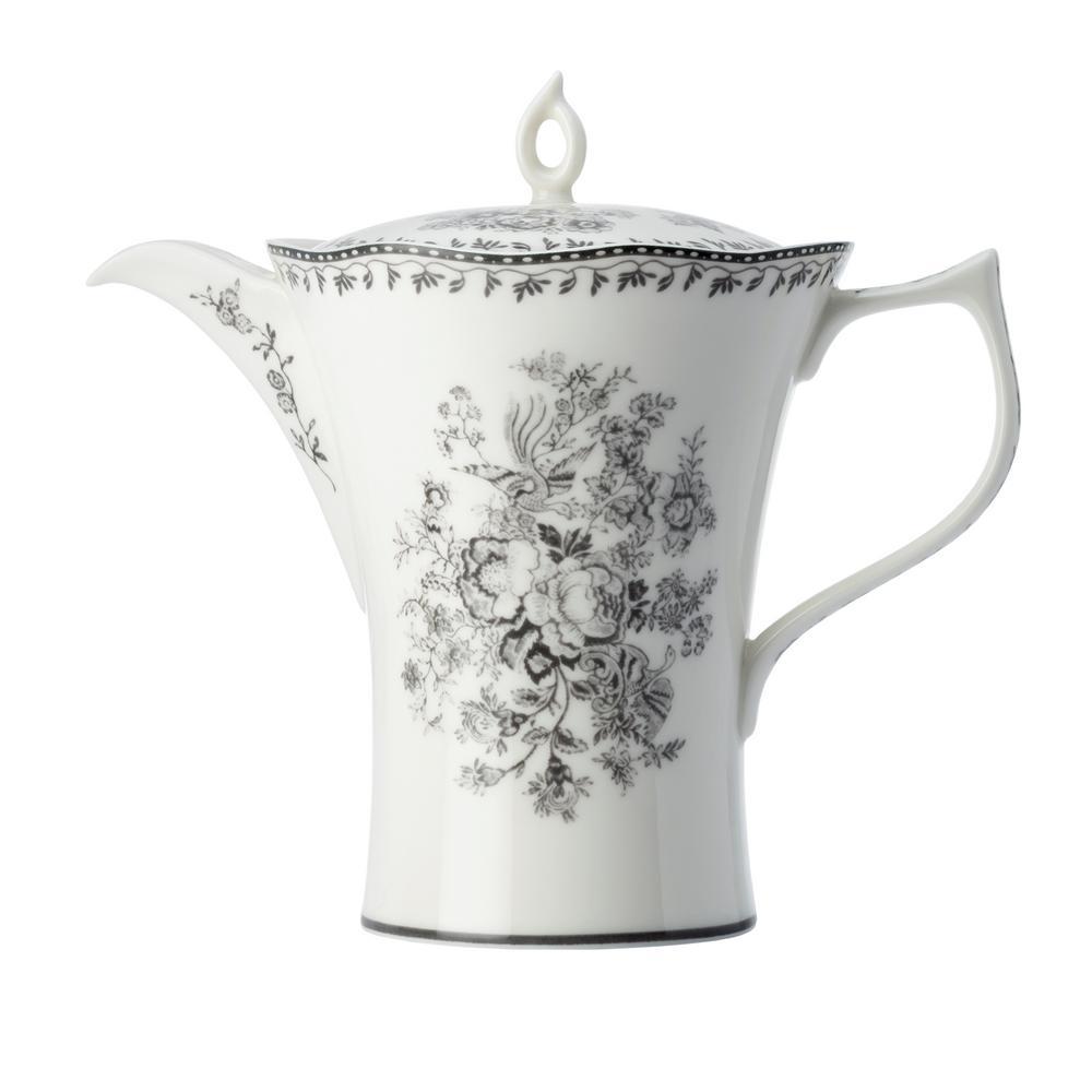 4-Cup Grey Porcelain Grey Tea Pots with Lid 26 oz. (Set of 12)
