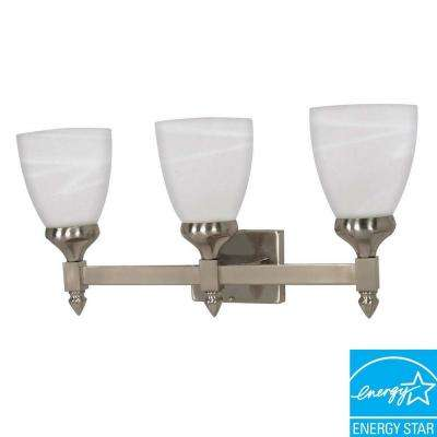 3-Light Brushed Nickel Wall Vanity Light