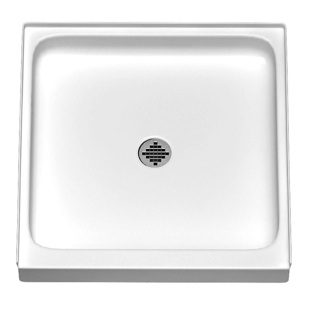ASB Reflection 32 in. x 32 in. Acrylic Single Threshold Shower Base in White