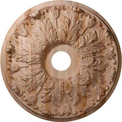 24 in. Unfinished Maple Carved Florentine Ceiling Medallion