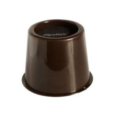 3 in. Under-Bed Storage Furniture/Bed Risers Chocolate (Set of 4)