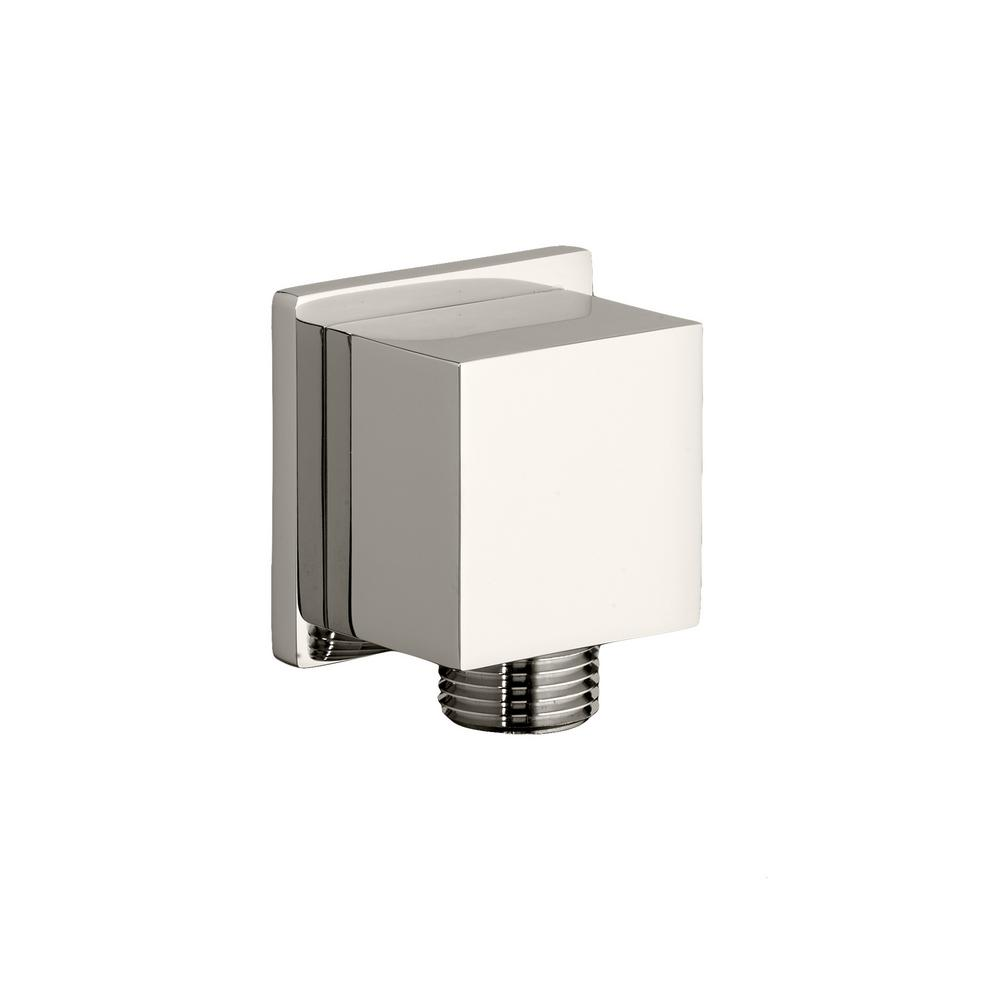 American Standard 1/2 in. Square Brass 90-Degree Elbow in Polished Nickel This stylish, geometric Wall Supply supplies water to a handheld shower. Available in two elegant finishes. Includes Check Valve.