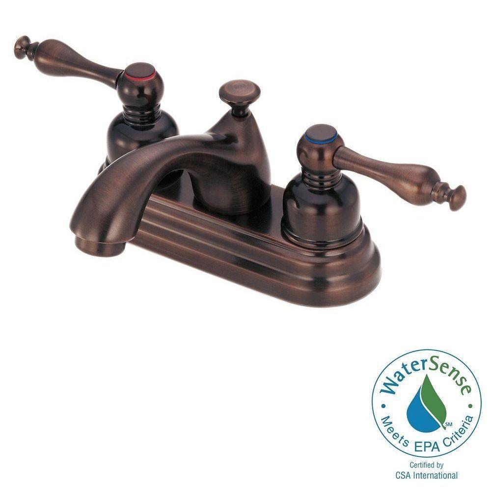 Sheridan 4 in. Centerset 2-Handle Bathroom Faucet in Oil Rubbed Bronze