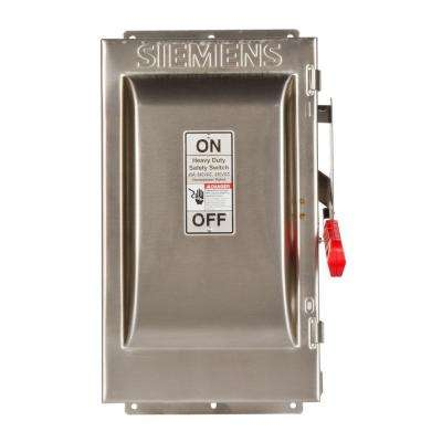 Heavy Duty 60 Amp 240-Volt 2-Pole Type 4X Fusible Safety Switch