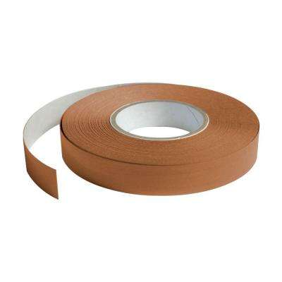 1 in. Wide x 100 ft. Long Roll Deco-Tape Faux Wood-Caramel Self-Adhesive Decorative Grid Tape