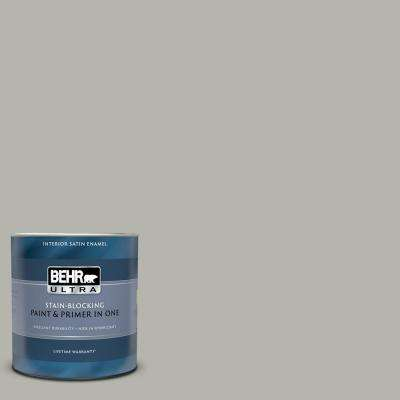 1 qt. #PPU25-08 Heirloom Silver Satin Enamel Interior Paint and Primer in One