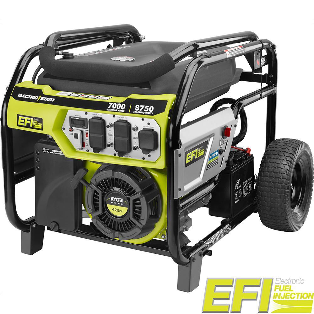 Ryobi 7000-Watt Electronic Fuel Injected (EFI) Gasoline Powered Electric Start Portable Generator by Ryobi