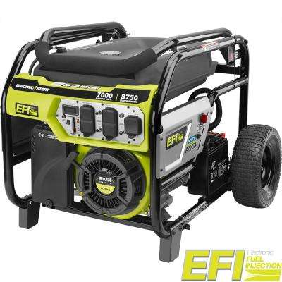 7000-Watt Electronic Fuel Injected (EFI) Gasoline Powered Electric Start Portable Generator