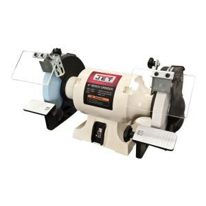 Click here to buy JET 8 inch Wood Working Bench Grinder with Norton Wheels by JET.