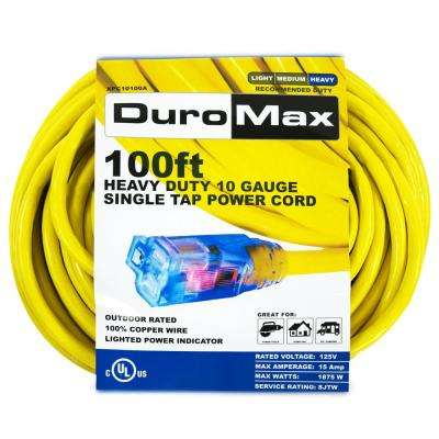 XPC10100A 100 ft. 10/3 Gauge Single Tap Extension Power Cord