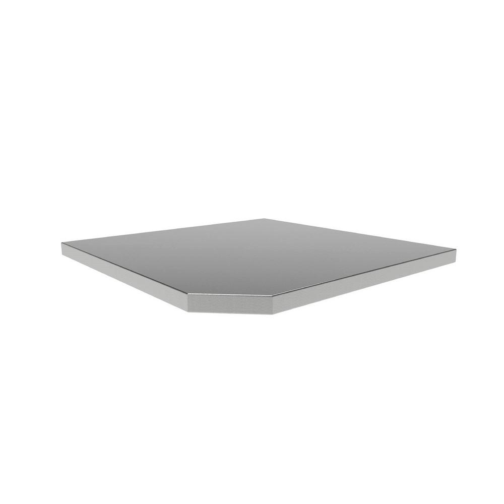 NewAge Products Bold Series 3.0 21 in. W x 1 in. H x 21 in. D Corner Stainless Steel Worktop