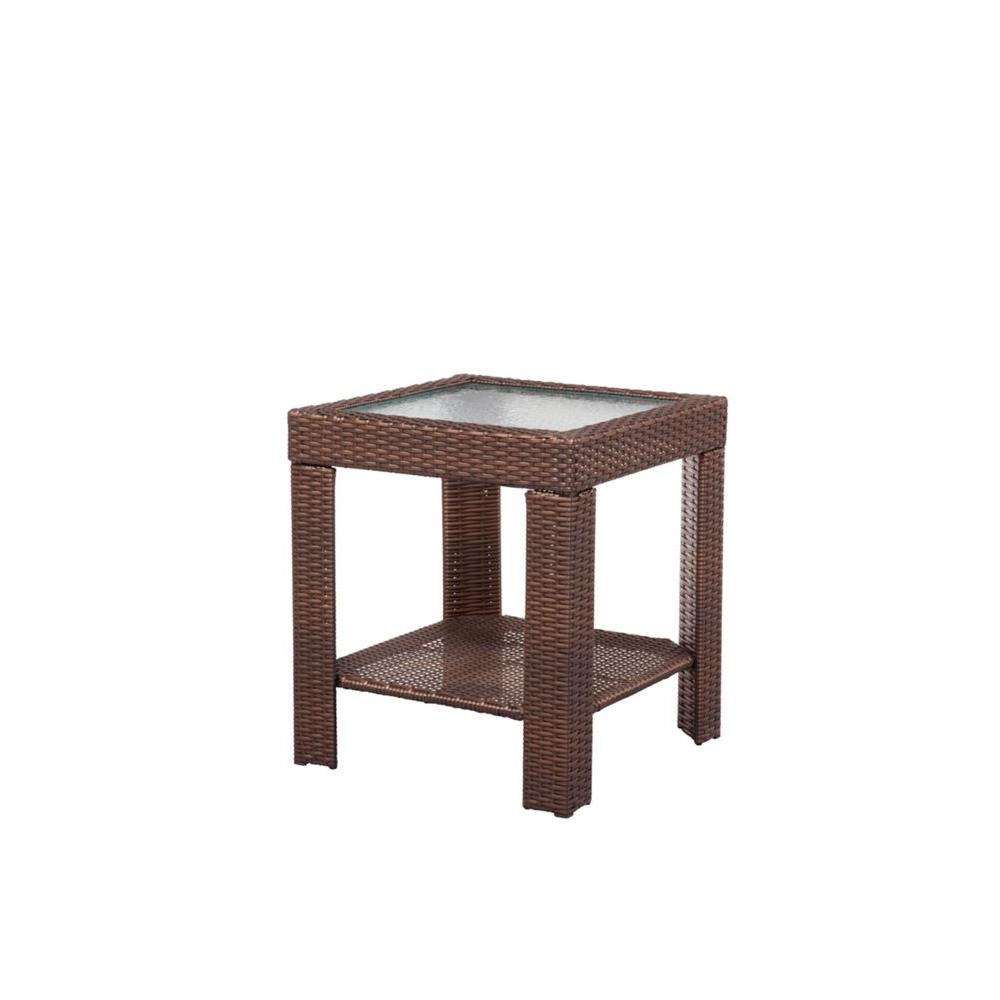 Hampton Bay Beverly Patio Accent Table