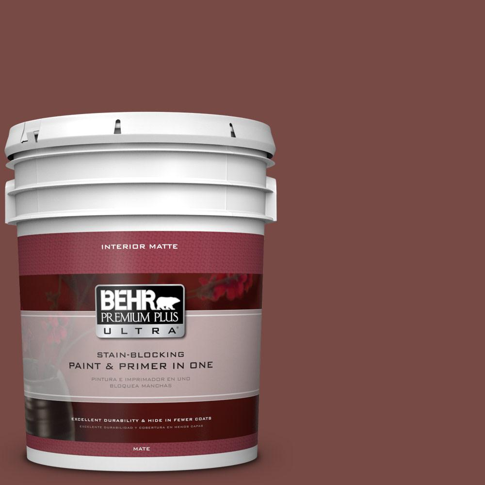 BEHR Premium Plus Ultra 5 gal. #170F-7 Leather Bound Flat/Matte Interior Paint