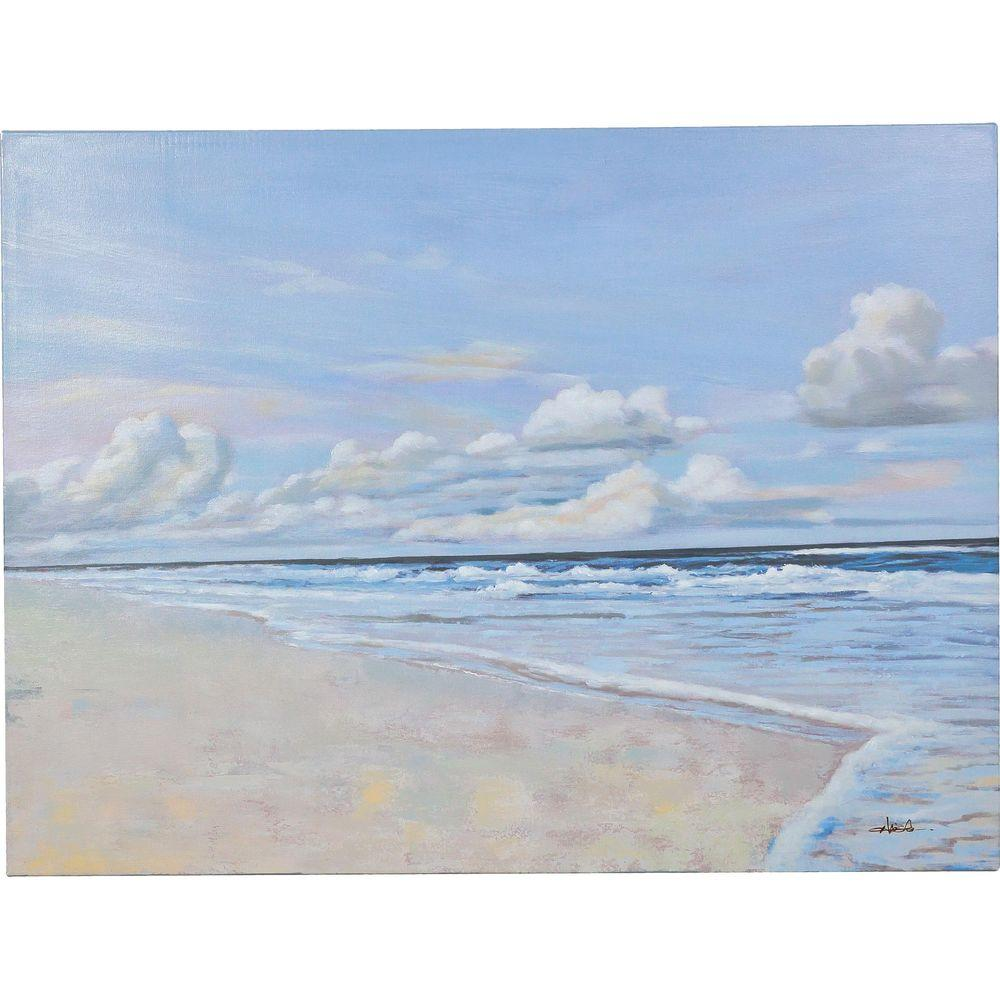 "36 in. x 48 in. ""Calming"" Hand Painted Canvas Wall Art"