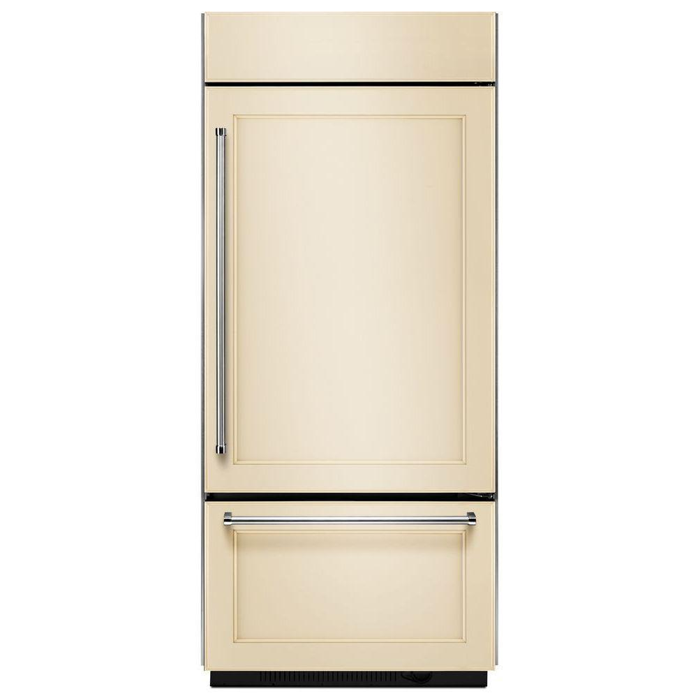 36 in. W 20.9 cu. ft. Built-In Bottom Freezer Refrigerator, Panel