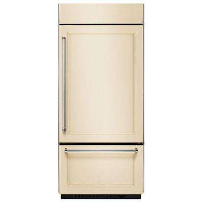 36 in. W 20.9 cu. ft. Built-In Bottom Freezer Refrigerator, Panel Ready