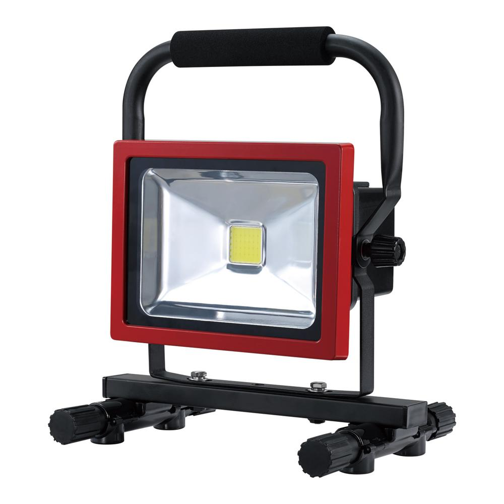 20-Watt Black/Red Integrated LED Industrial Work Light