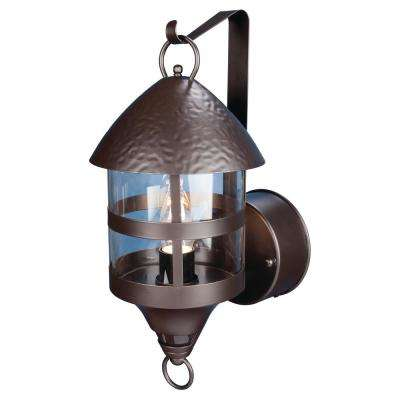 1-Light Oil Rubbed Bronze Motion Activated Outdoor Wall Mount Lantern