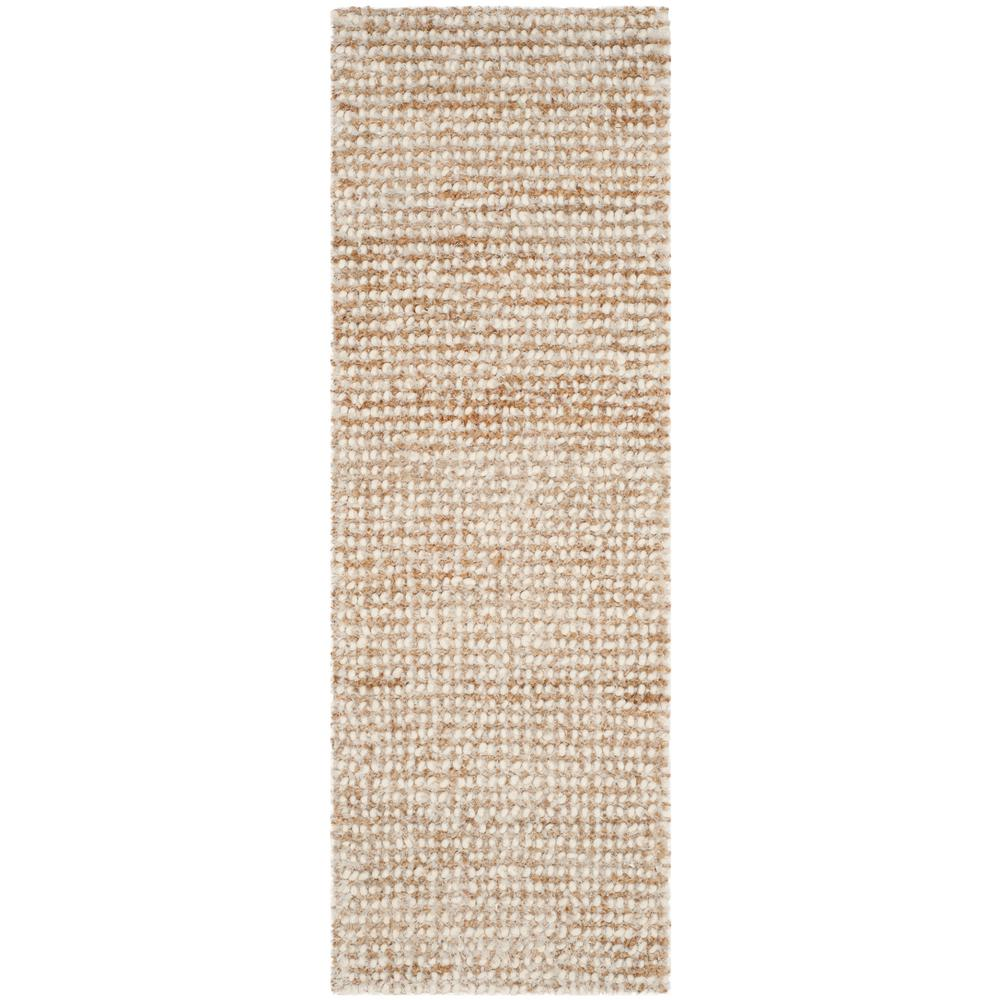 Aspen Shag White/Beige 2 ft. 3 in. x 7 ft. Runner