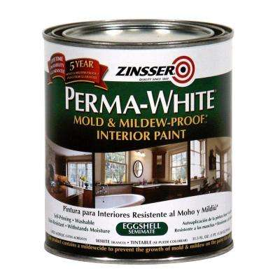 1 qt. Perma-White Mold and Mildew-Proof Eggshell Interior Paint (Case of 6)
