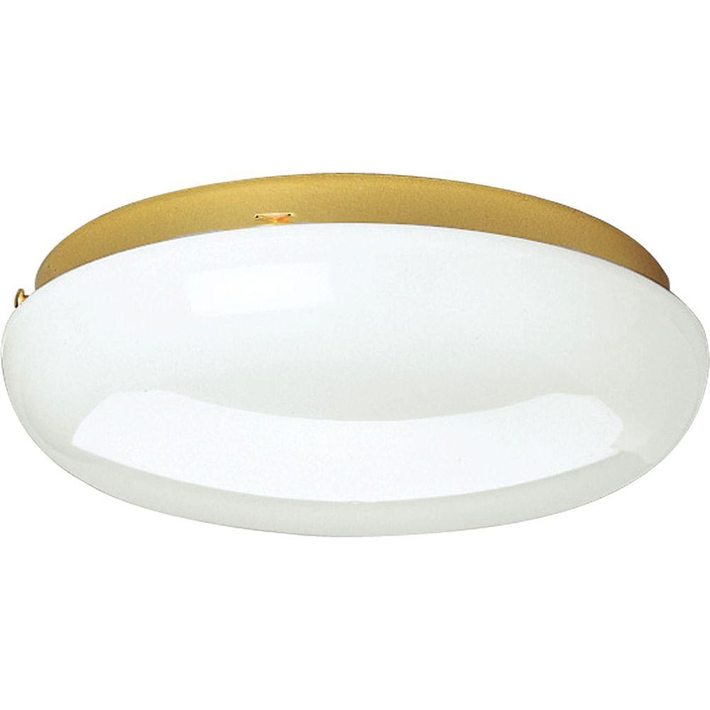 Progress Lighting 2-Light Polished Brass Fluorescent Fixture-DISCONTINUED