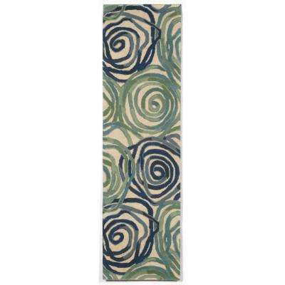 Flora Daze Playa 2 ft. x 8 ft. Runner Rug