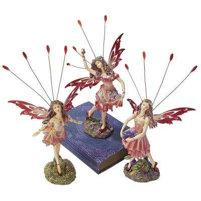 8 in. H Crosstweed Meadow Victorian Fairy Statue Collection (Set of 3)