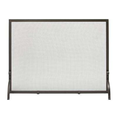 Olde World Iron Medium Single-Panel Fireplace Screen