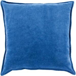 Velizh Blue Solid Polyester 22 in. x 22 in. Throw Pillow