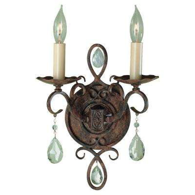 Chateau 2-Light Mocha Bronze Wall Sconce