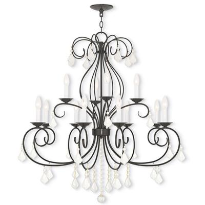 Prescott 12-Light English Bronze Chandelier