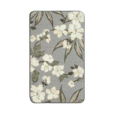 Madeline Dove Grey 2 ft. 3 in. x 3 ft. 9 in. High Definition Printed Memory Foam Accent Rug