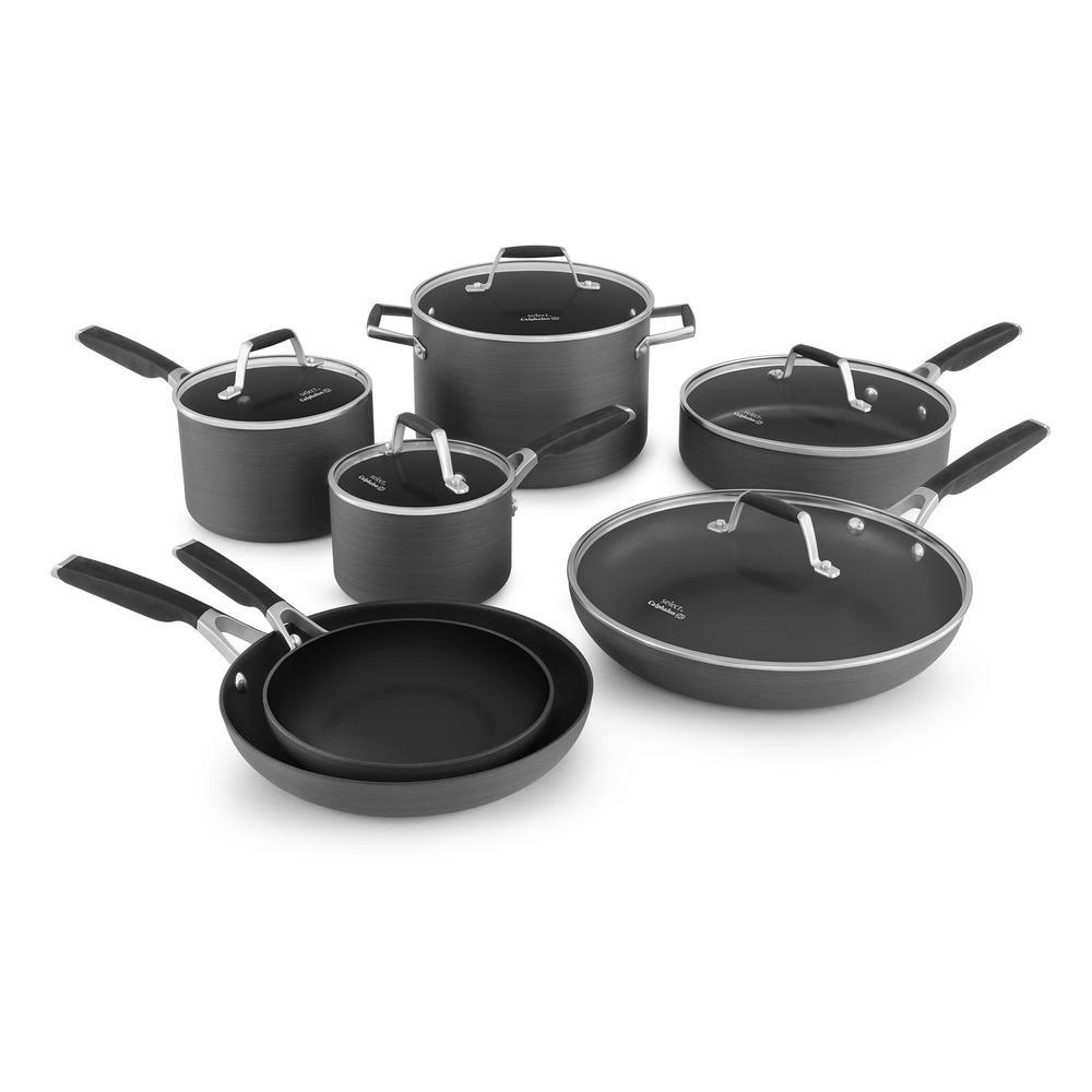 Calphalon Kitchen Outlet: Calphalon Select 12-Piece Hard Anodized Nonstick Cookware