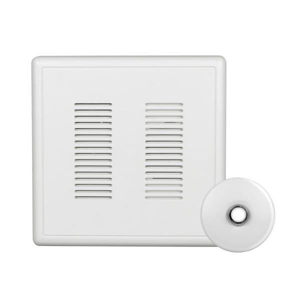 PrimeChime Plus 2 Video Compatible Wired Door Bell Chime Kit with White Stucco Button