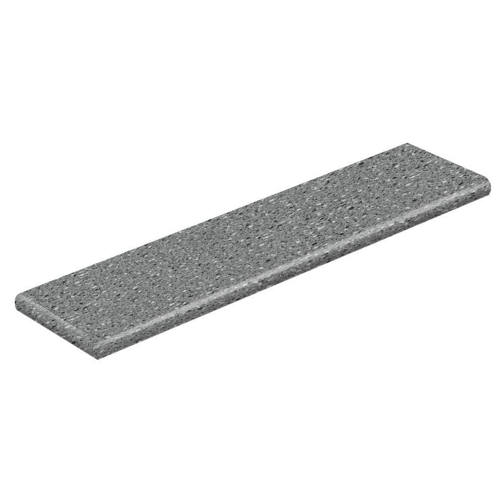 Cap A Tread Confetti Dark Grey 94 in. Long x 12-1/8 in. Deep x 1-11/16 in. Height Vinyl Left Return to Cover Stairs 1 in. Thick