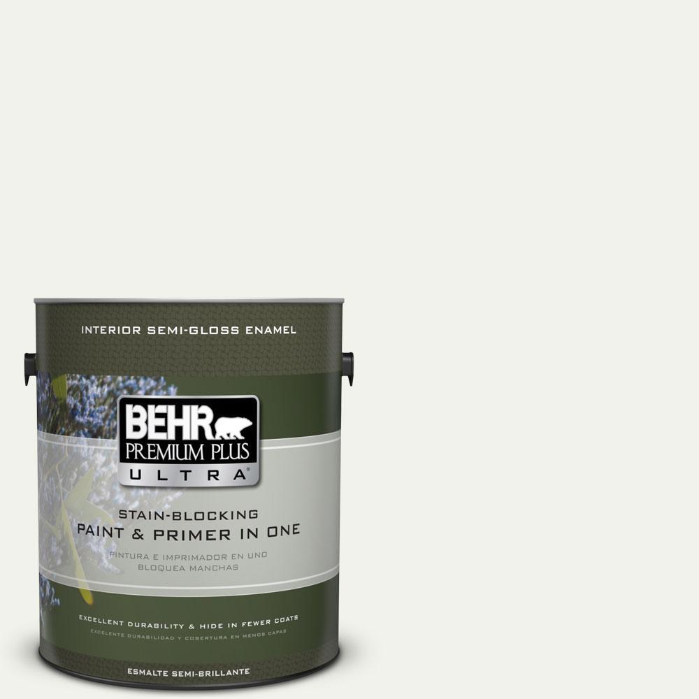 1-gal. #BWC-05 Quiet Whisper Semi-Gloss Enamel Interior Paint