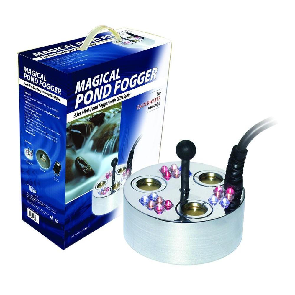 3 Jet Pond Fogger 18 LED Lights Transformer and Ring