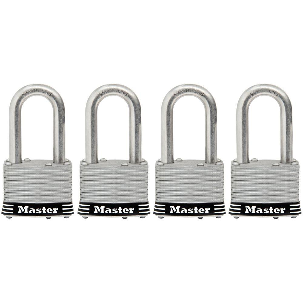 1-3/4 in. Laminated Stainless Steel Keyed Padlock with 1-1/2 in. Shackle